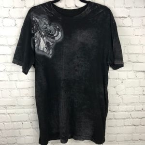 Affliction Men's Chemical Burn Series T-shirt Sz L